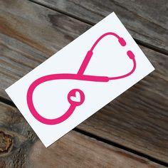 Monogram Nurse Infinity Car Decal By Rebecca Lane Graphics on Etsy Love Symbol Tattoos, Dream Tattoos, Tatoos, Family Anchor Tattoos, Vet Tech Tattoo, Car Decals, Vinyl Decals, Windmill Tattoo, Monogram Tattoo