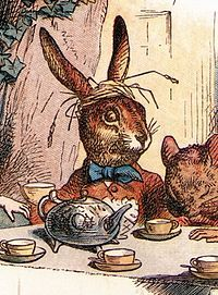 The March Hare. Illustration by John Tenniel.