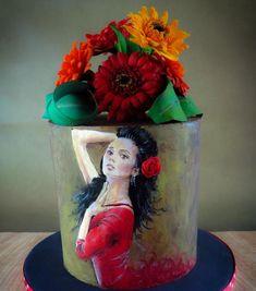 Spanish 40th Cake  - cake by Calli Creations