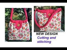 10 मिनट cutting stitching of handmade handbag with zipper /shopping bag /travel bag My Bags, Purses And Bags, Popular Purses, Stitch Shop, Fabric Purses, Sewing Lessons, Leftover Fabric, Handmade Handbags, Hand Embroidery Designs