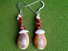 Sea Shell Earrings-Kahelelani Shells Rare Hawaiian Shell