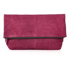Women's Topshop Snakeskin Embossed Suede Clutch (£43) ❤ liked on Polyvore featuring bags, handbags, clutches, suede purse, snake print purse, foldover purse, suede handbags and snake skin handbags