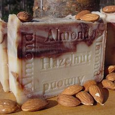 Almond Hazel Nut Soap with Cocoa- Almond and Acai Berry Butter -Babacu nut oil is used in exclusive high-end facial moisturizers as it has been prized in South America for its great moisturizing quality and beneficial effect on the skin.