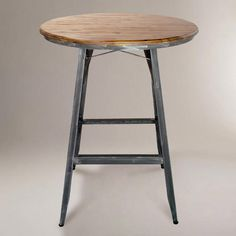 """One of my favorite discoveries at WorldMarket.com: Hudson Pub Table  279.00 40"""" high  Stools 139 each"""