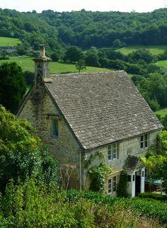 Rose Cottage at Slad. Slad is a village in Gloucestershire, England, in the Slad Valley