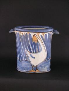 Andrew McGarva,Hand painted stoneware, Grès artisanal