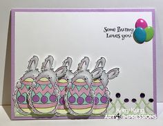 Art Impressions Blog: Some Bunny Loves You by Kerry! Ai & Therm-O-Web Swap Week!