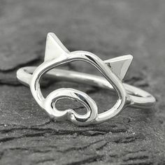 Pig ring little piggy ring 925 sterling silver by JubileJewel, $25.00
