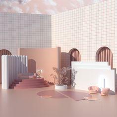 mi ritorni in mente - Architektur Booth Design, 3d Design, House Design, 3d Interior Design, Boutique Interior, Inspiration Design, Interior Inspiration, Hybrid Design, Stage Design