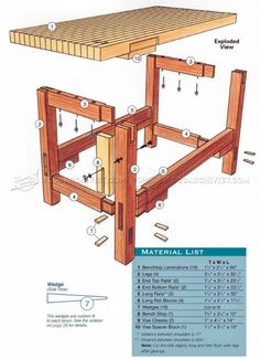 Workbench Plans - Workshop Solutions Projects, Tips and Tricks - Woodwork, Woodworking, Woodworking Plans, Woodworking Projects Woodworking Bench Plans, Woodworking Workshop, Woodworking Shop, Woodworking Projects, Woodworking Classes, Sketchup Woodworking, Woodworking Techniques, Woodworking Furniture, Workbench Designs