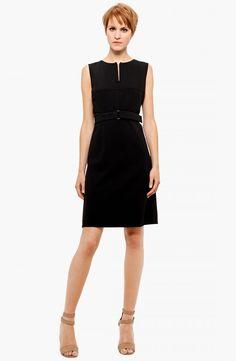 Akris punto Belted Zip Front Wool #Dress