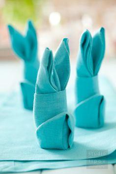 Wielkanocna dekoracja – zajączki z serwetek krok po kroku.