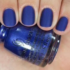 China Glaze Combat Blue-ts