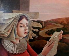 Reading and Art: Jean Bailly Art And Illustration, Reading Art, Woman Reading, Book Art, Books To Read For Women, Bo Bartlett, Book People, Tree People, World Of Books