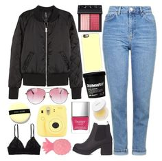 """""""clarity"""" by h0ld-0n-let-g0 ❤ liked on Polyvore featuring Topshop, H&M, NARS Cosmetics, Aerie, Casetify, Bobbi Brown Cosmetics, Minnie Rose, Darphin, Butter London and Fujifilm"""
