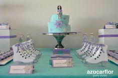 AZUCAR FLOR party studio: Patinaje sobre hielo Figure Ice Skates, Skate Girl, Skate Party, Ice Skating, Dessert Table, Children, Kids, Princess, Cake
