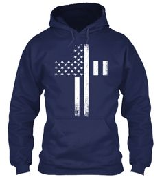 Vintage US Merica Cross Hoodies, T-Shirts and Sweatshirst for Women, Men and Kids. #Believer #Christmas #faith