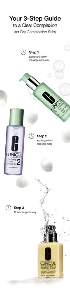 Follow these 3 easy steps to cleanse and replenish skin that feels comfortable in the T-Zone, but tight in the cheeks.
