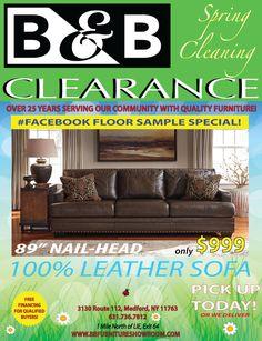 B&b Furniture, Clearance Furniture, Leather Sofa, Leather Sofas