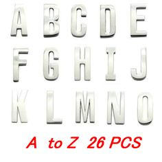 Initial alphabet letter Charms,30MM