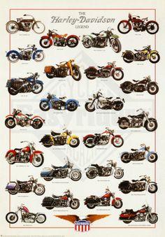 Harley Davidson Legend Póster
