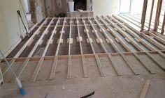 Raising a sunken living-room floor. If we wanted to raise the floor in the living room.