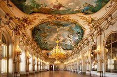 Beautiful Empire Palace, at Vienna, Austria.