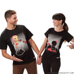 Keep Calm And Love Me™ His & Hers Matching Couple Shirts Black
