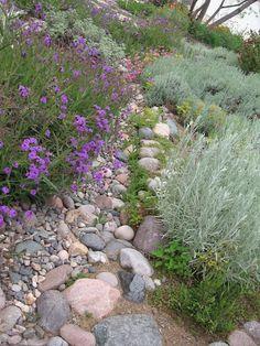 "Dry River Bed Gardens Designs | Children's Playground Ideas / ""Dry River Bed"" Going through garden ..."
