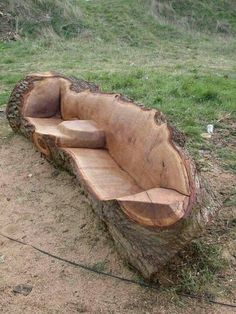 what about a tree chair - smaller bench