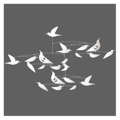 Djeco Mobile, weisse Vögel, Katsumi Komagata Weiß