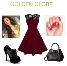 """Golden globe"" by marthagoldfield ❤ liked on Polyvore featuring Vince Camuto"