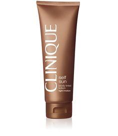 Clinique Self Sun Gel crème Teinté Auto-bronzant Corps <br>teinte claire - moyenne