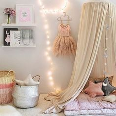 Kids Childrens Bedding Round Dome Bed Canopy Mosquito Net Curtain Room Decor US Kids Bed Canopy, Kids Curtains, Bed Canopies, Tent Canopy, Baby Canopy, Canopy Curtains, Baby Bedding, Baby Crib, Kid Spaces