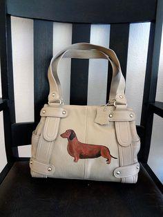 Dachshund Dachsie Dog Hand Painted Genuine by PaintedPooches, $68.00