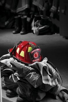 Fire Gear splash of color Firefighter Paramedic, Volunteer Firefighter, Firefighters, Firemen, Fire Dept, Fire Department, Color Splash, Color Pop, Fire Helmet