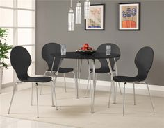 DHP's Bentwood Round Dining Table Top brings cool class and contemporary style to any kitchen, dinette or dining room décor and is a perfect fit for smaller spaces. The dining table top goes with the dining base. Its chrome, curved legs are modern and sleek and the clean natural honey/birch colour of the table adds a touch of light airiness to the room. The table can seat two or four people easily with the Shell Bentwood Chairs, sold separately. Some assembly is required with the Shell…