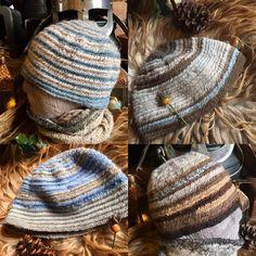 Ice Blue Winter Nalbinding Viking Hat