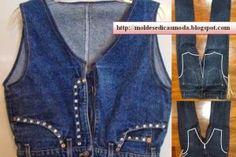 Esta ideia de colete feito de calça jeans é uma espécie de ovo de Colombo. Depois de se analisar a imagem com facilidade se percebe que o processo é...
