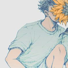 there's no beauty like the art of anime Art And Illustration, Illustrations, Sunflower Illustration, Aesthetic Art, Aesthetic Anime, Haikyuu, Character Art, Character Design, Bd Art