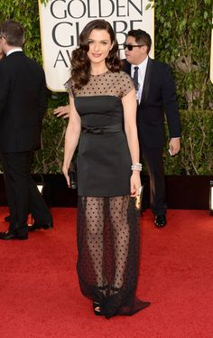 Pin for Later: The 64 Most Glamorous Gowns to Ever Hit the Golden Globes  Rachel Weisz in Louis Vuitton in 2013.