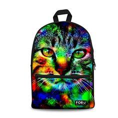 0953e428cc8 Amazon.com   HUGSIDEA Stylish Bear Head Printing Backpack School Bag Bookbag  for Men   Kids  Backpacks