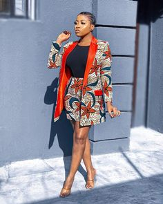 Nigerian Dress Styles, Short African Dresses, African Fashion Skirts, Short Gowns, African Print Fashion, Fashion Prints, Women's Fashion, African Attire, African Wear