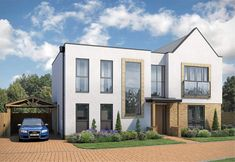 Find your new home in Buckinghamshire from Crest Nicholson's wide range of new build homes. 1 - 5 bedroom homes in Buckinghamshire priced between Part exchange schemes available. Milton Keynes, New Builds, Detached House, New Homes, Island, Mansions, House Styles, Building, House Exteriors