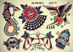 Super Tattoo Old School Sailor Tat Ideas Tattoo Flash Sheet, Tattoo Flash Art, Traditional Tattoo Design, Traditional Tattoo Flash, Old Tattoos, Body Art Tattoos, Dessin Old School, Arm Sleeve, Tatuaje Old School