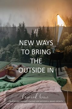 4-new-ways-to-bring-the-outside-insode Pink Wallpaper Bedroom, Wallpaper Ceiling, How To Hang Wallpaper, Wallpaper Ideas, Dark Grey Hallway, Blue And Pink Bedroom, Dark Green Living Room, Festoon Lights, Green Lounge