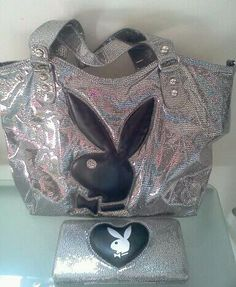 Holographic Playboy purse & matching wallet <3