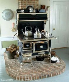 A vintage Heartland Oval woodburning cookstove. New models available at www.heartlandapp.com.