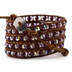 January Birthstone Jewelry > Garnet Wrap Bracelet - Chan Luu