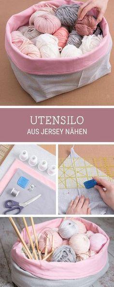 #kostenloseanleitung für ein genähtes Utensilo, #Nähanleitung für praktische #Wohndeko / free sewing pattern for a big utensilo via DaWanda.com